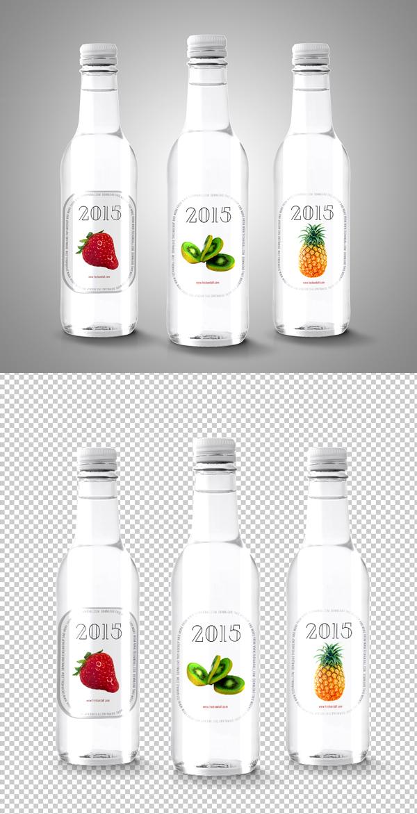 Label For Bottle Mockup