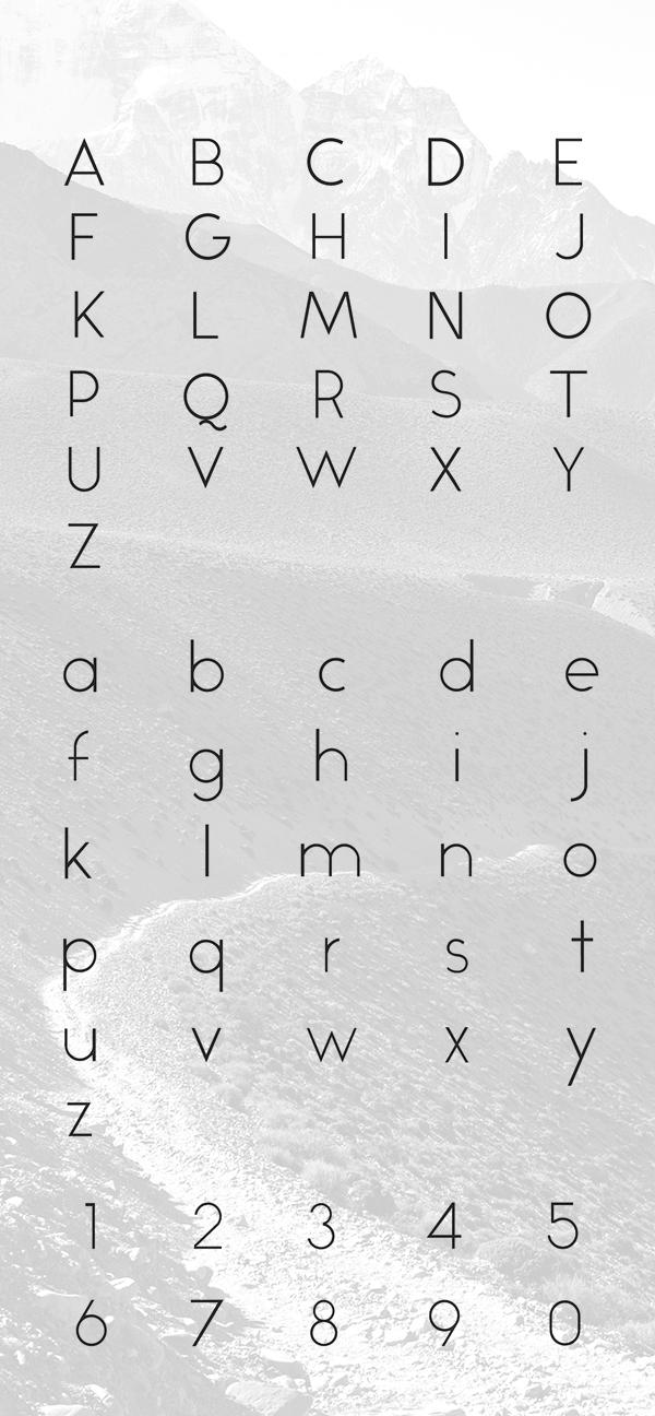 Alcubierre font letters