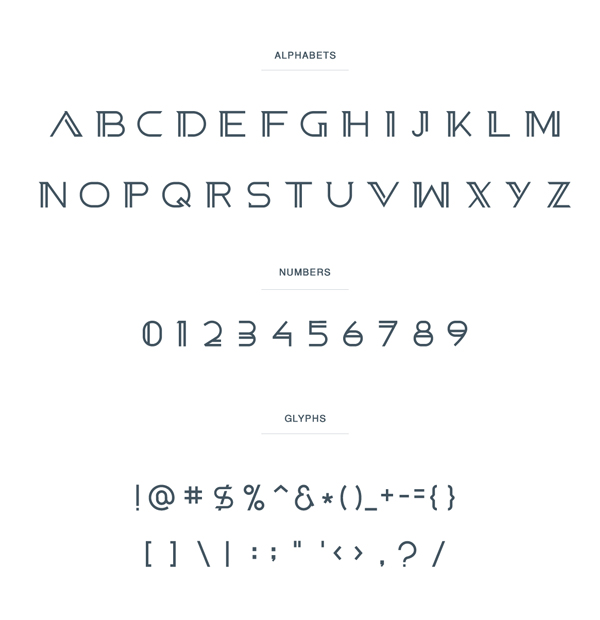 Belga font letters