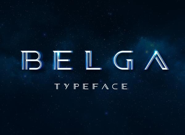 Belga free font