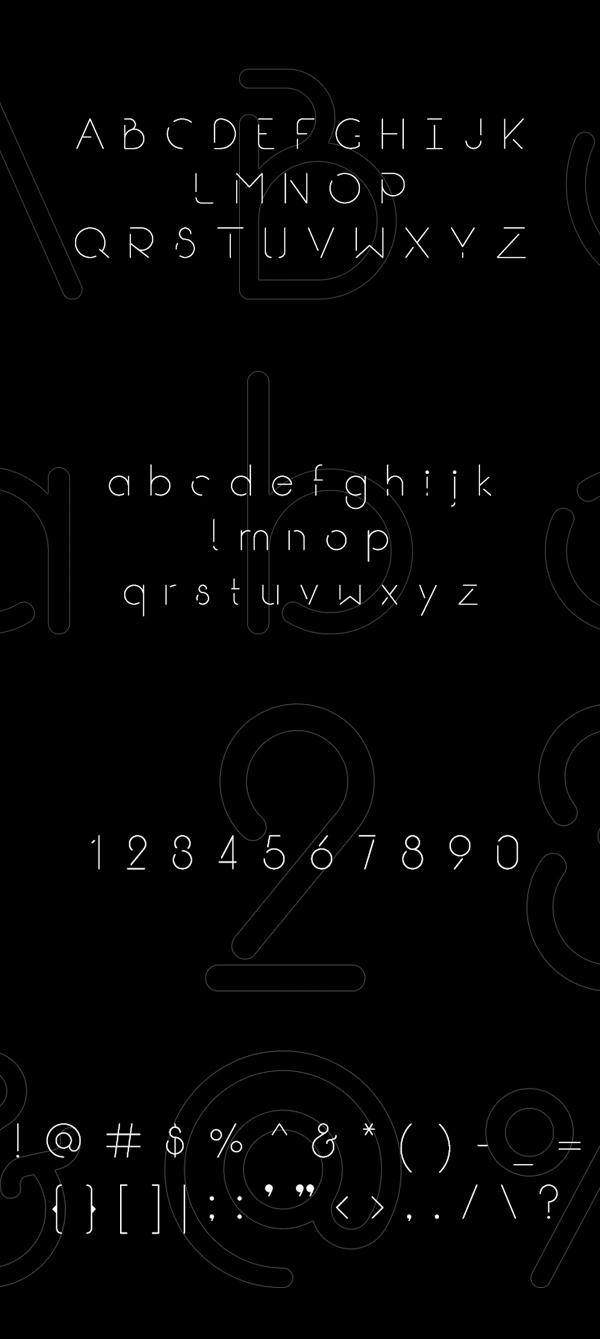Break font letters