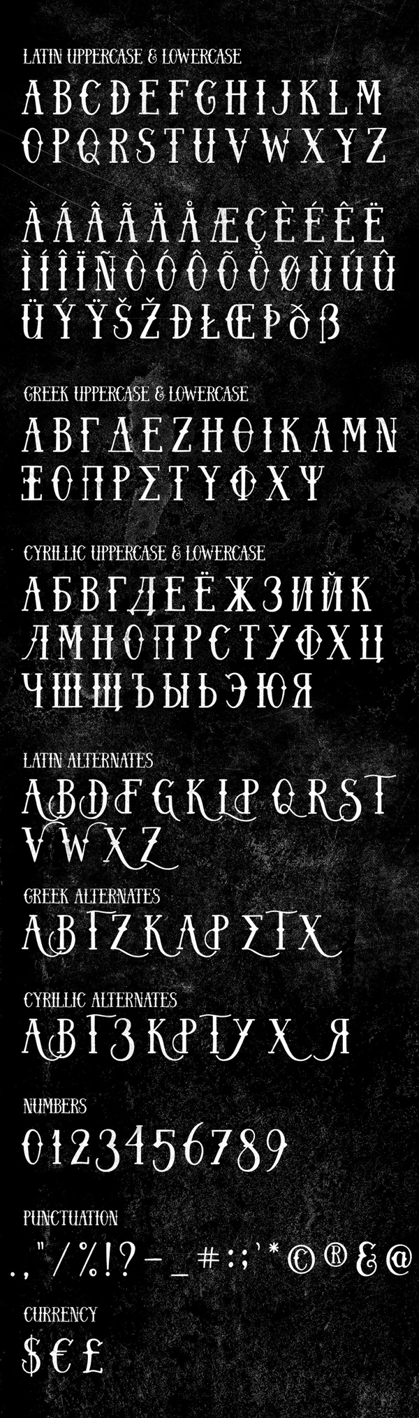 Charming font letters