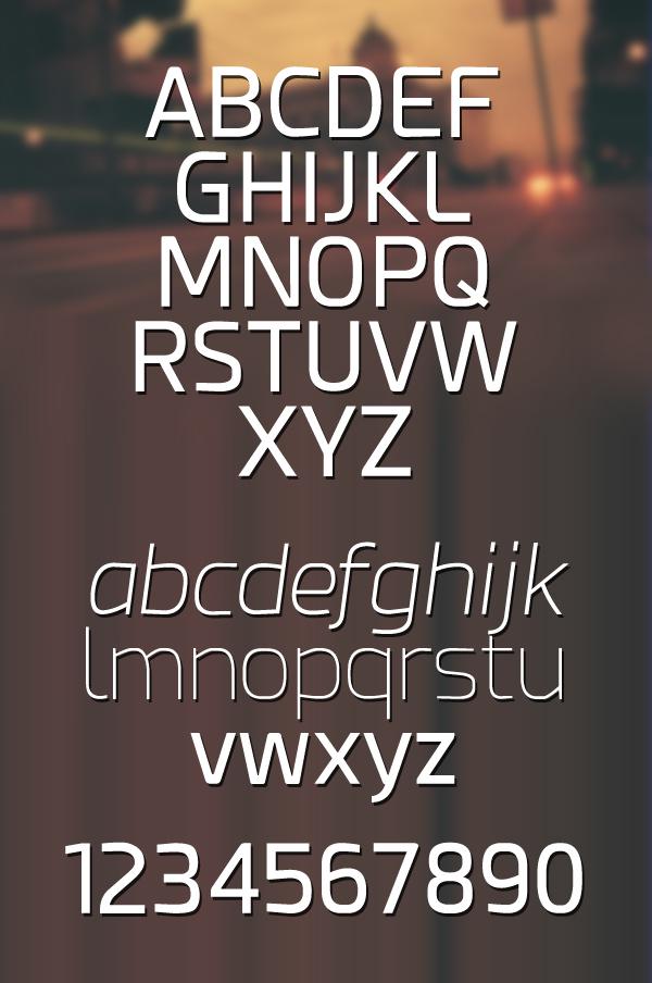 Esphimere  font letters