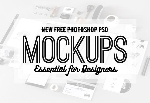 Free Photoshop PSD Mockup Templates (25 New MockUps)