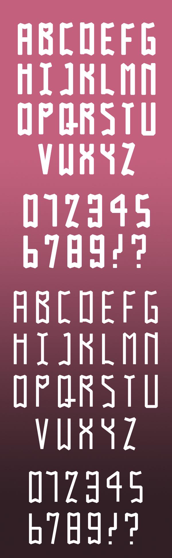 Gabo font letters