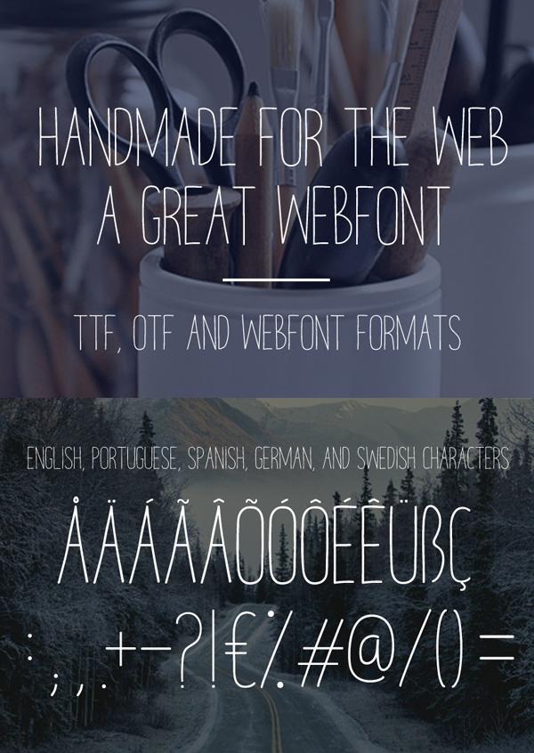 Melo font letters