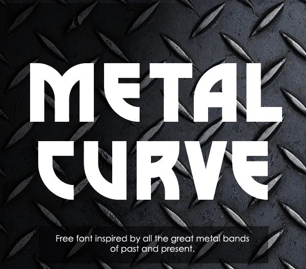 Metal Curve free font