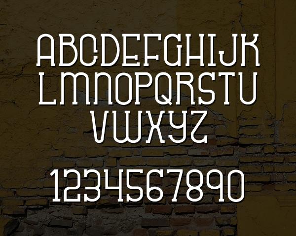 Sabitype font letters