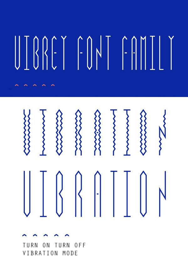 Vibrey free font