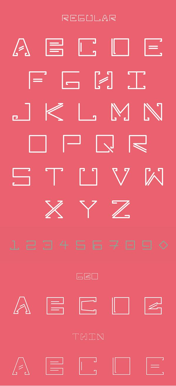 Zebral font letters