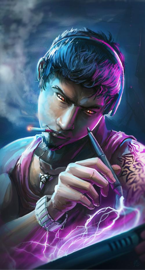 Self Portrait Illustration by Joey Mekonen