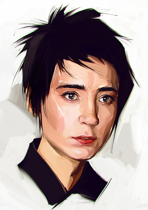 Shir Chong Digital Portrait Illustration by Viktor Miller-Gausa
