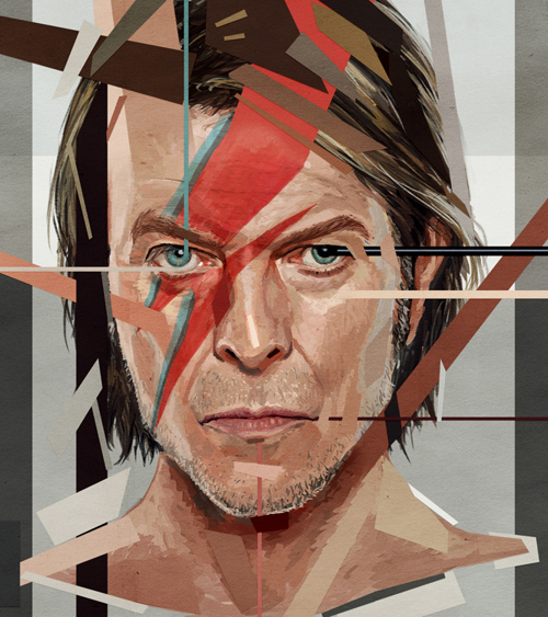 David Bowie Portrait Drawing Illustration