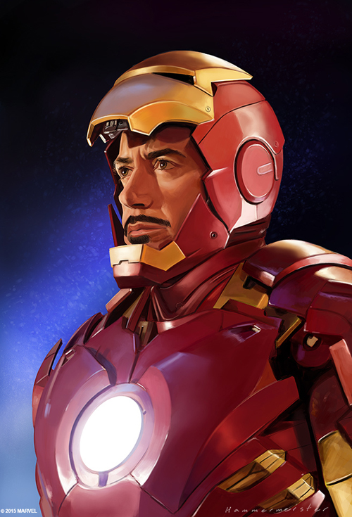 Robert Downey Jr. (Iron Man) Digital Portait