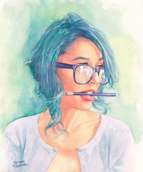 Tianna Gregory Watercolor Portrait