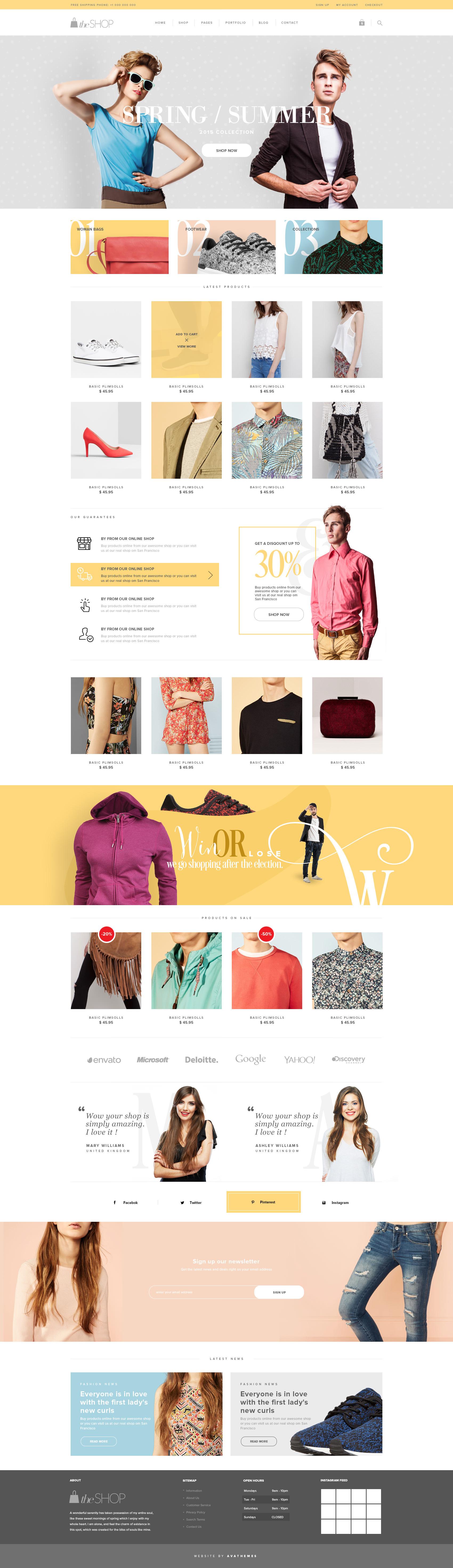 theShop - Retina Responsive WordPress Shop Theme