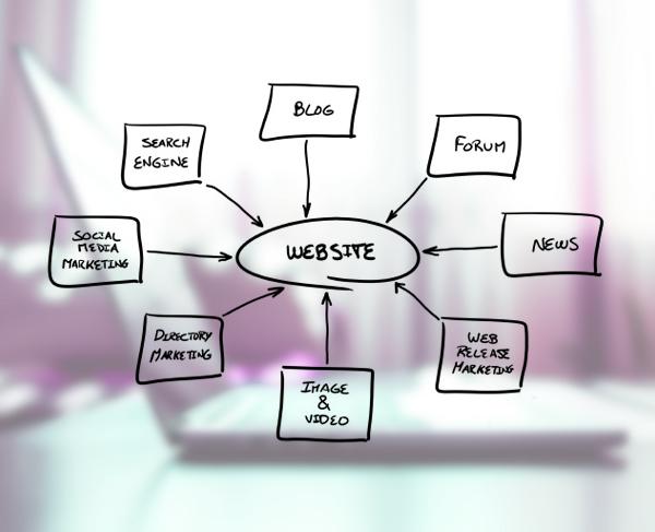 Website designer working chart