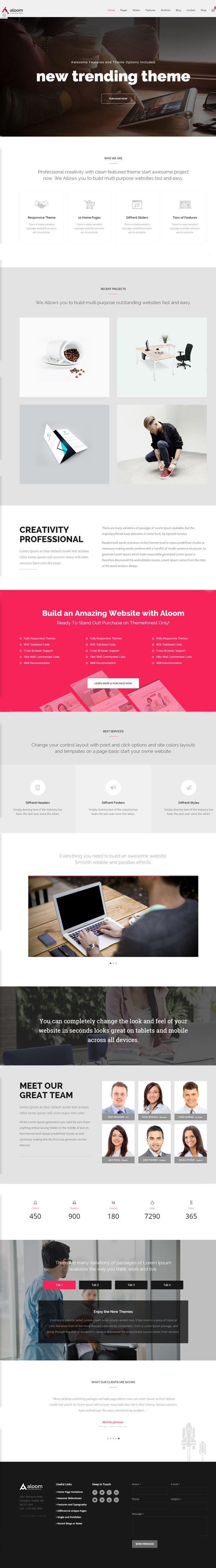 Aloom - Responsive MultiPurpose WordPress Theme