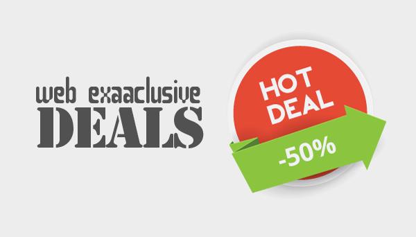Offering web exclusive deals
