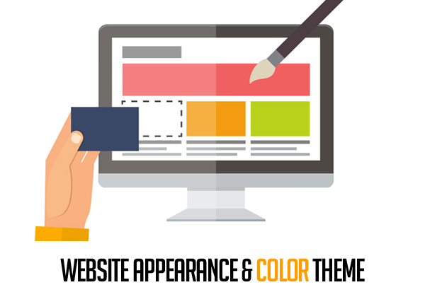 Color theme of website