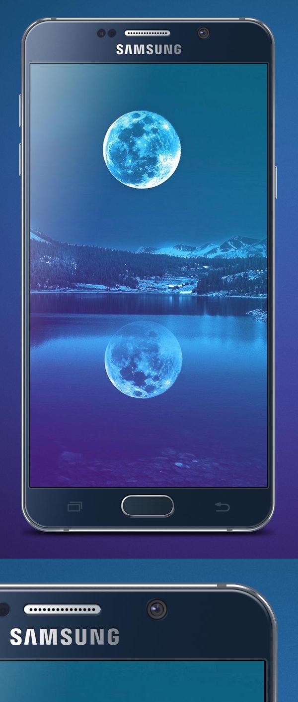 Free Samsung Galaxy Note 5 Mockup PSD