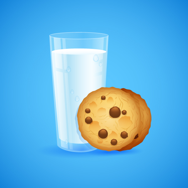 Create a Detailed Glass of Milk and Cookies in Adobe Illustrator