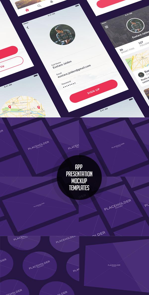Free App Presentation Mockups PSD Templates