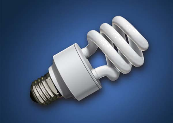Create a CFL Light Bulb in Illustrator Tutorial