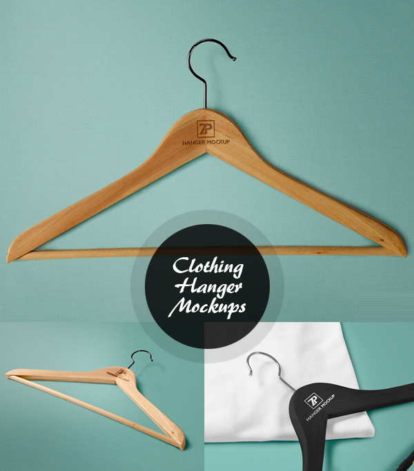 Free Clothing Hanger Mockups PSD