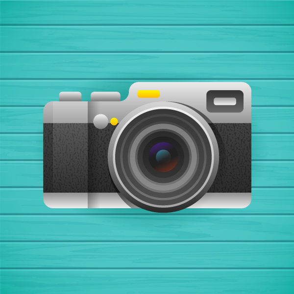 How to Create a Stylised, Textured Flat Camera in Adobe Illustrator