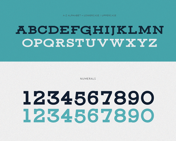 Ansley Display Font Letters and Numbers