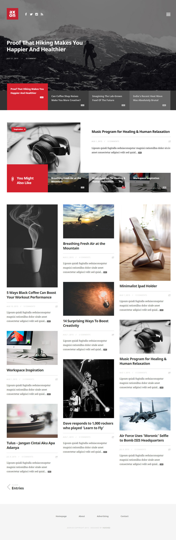 Axon - Minimalist Magazine WordPress Theme