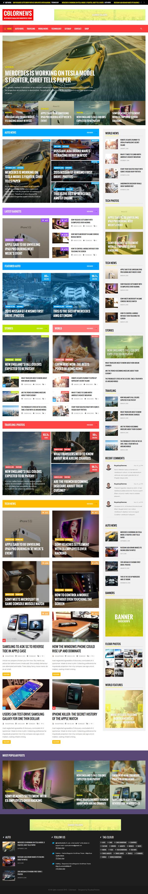 ColorNews - News/Magazine WordPress Theme