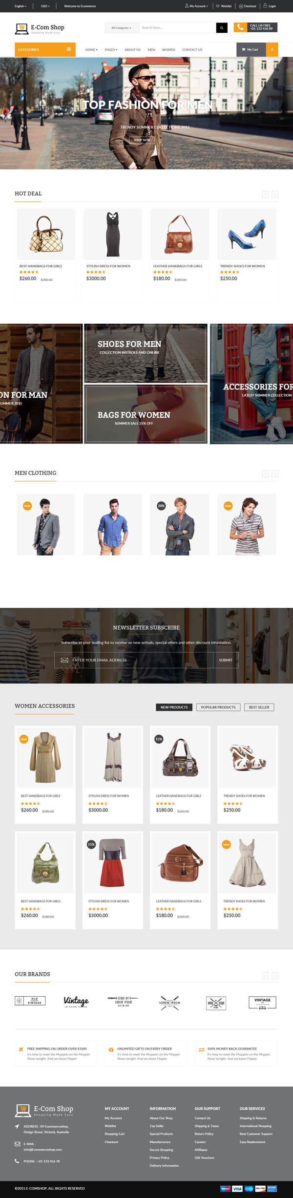 Ecom - Responsive eCommerce HTML Template