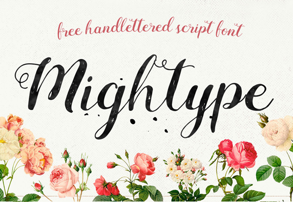 Mightype Free Brush Font