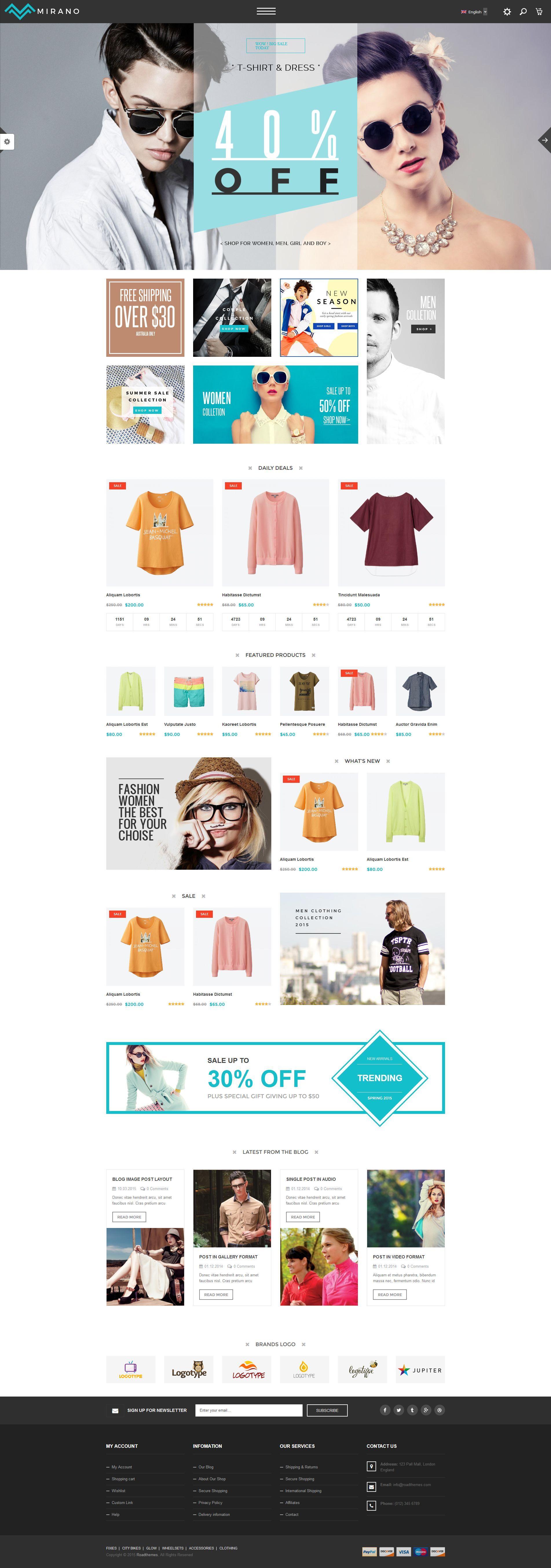 Mirano - Multipurpose Responsive WooCommerce Theme