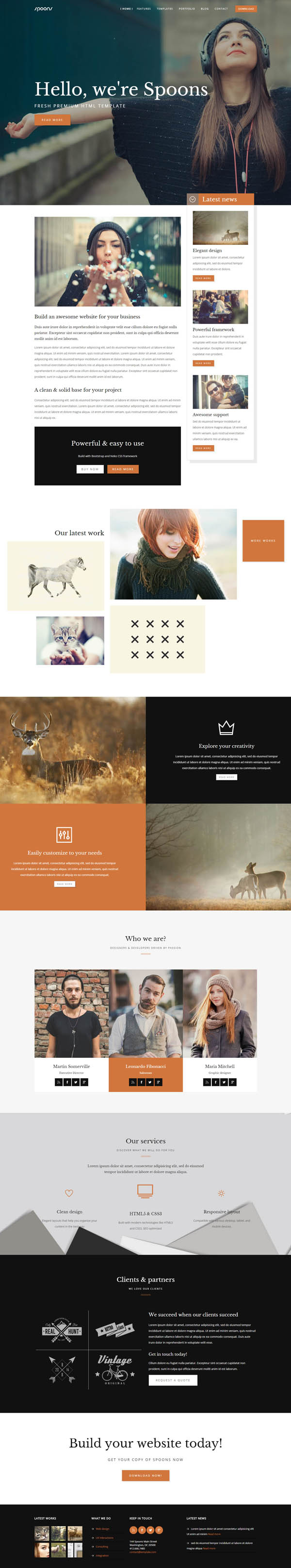 SPOONS   HTML One / Multi page Website Template
