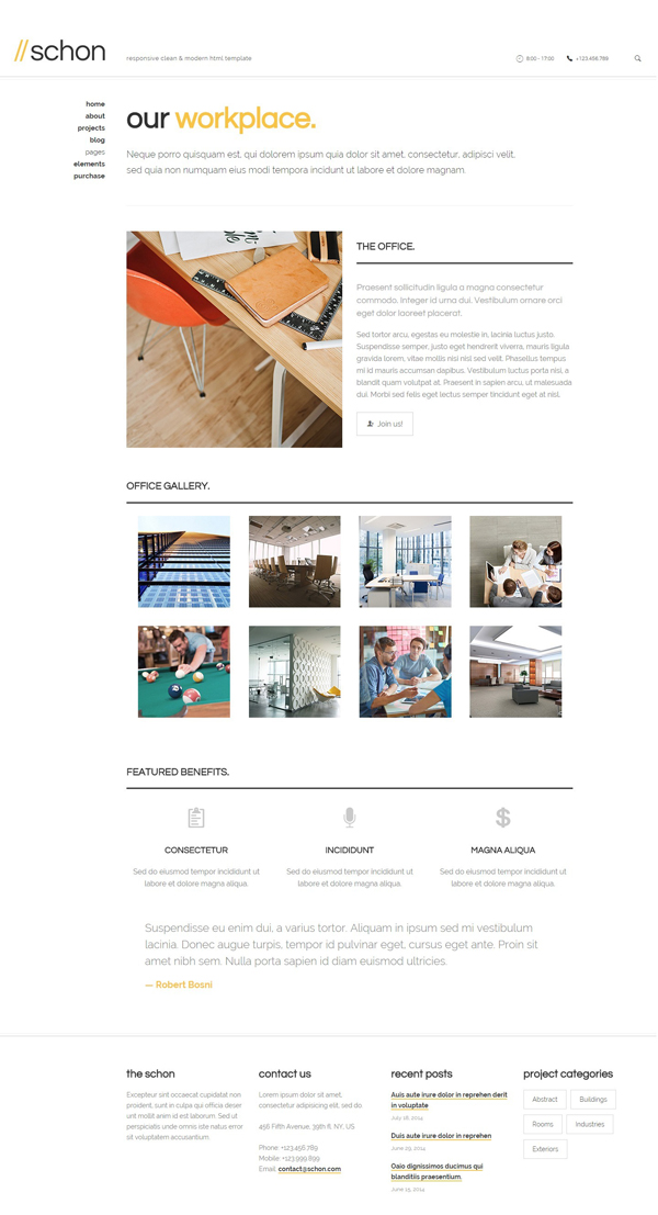 Schon - Modern and Business WordPress Theme