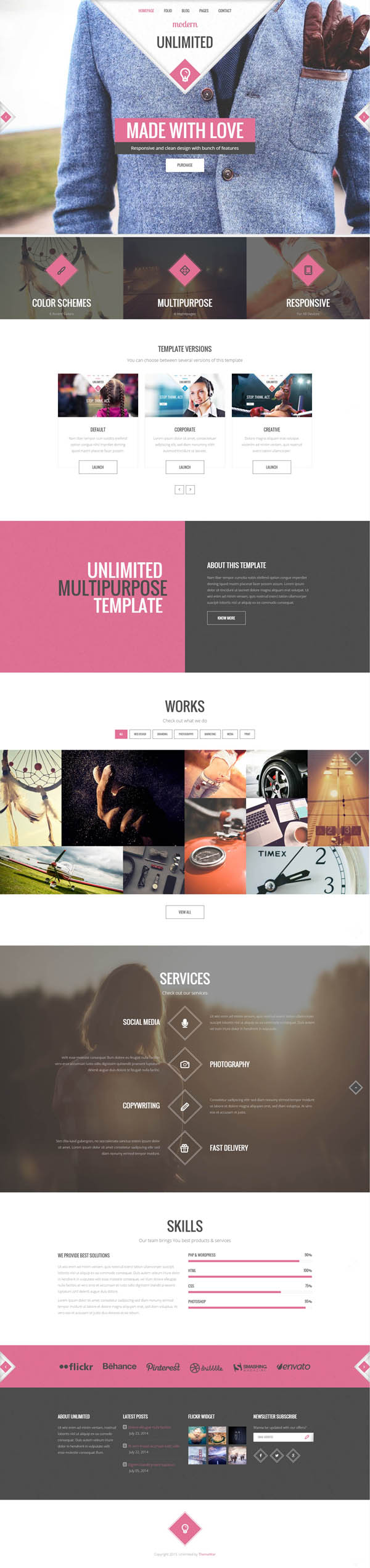 Unlimited - Responsive Multipurpose HTML5 Template