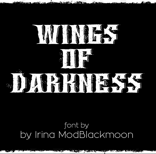 Wings of DarknessFree Font