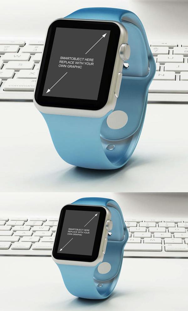Free Apple Watch Mock-up in PSD