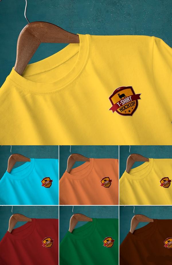 Free Round Neck T-Shirt Mockups