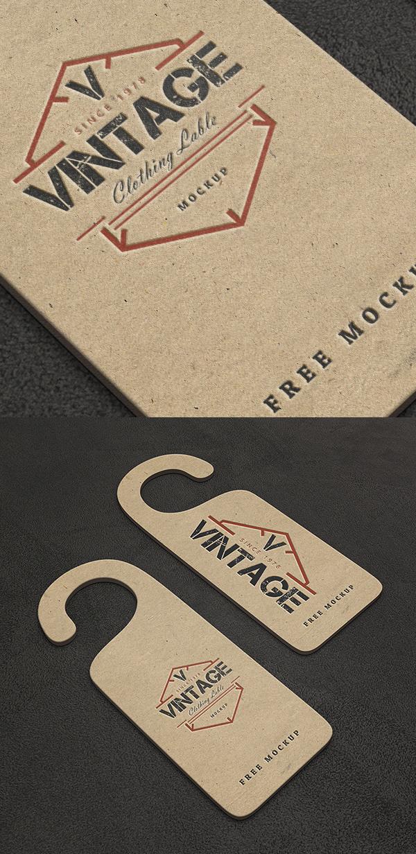 Free Vintage Label PSD Mockups