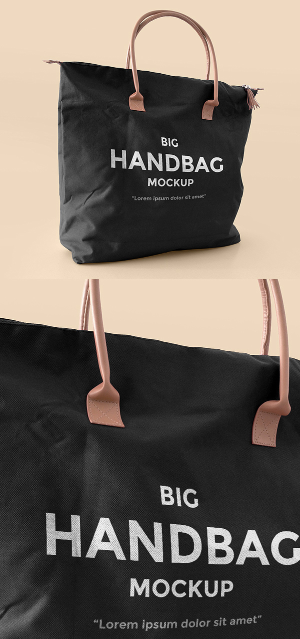 Free Leather Handbag Mockup