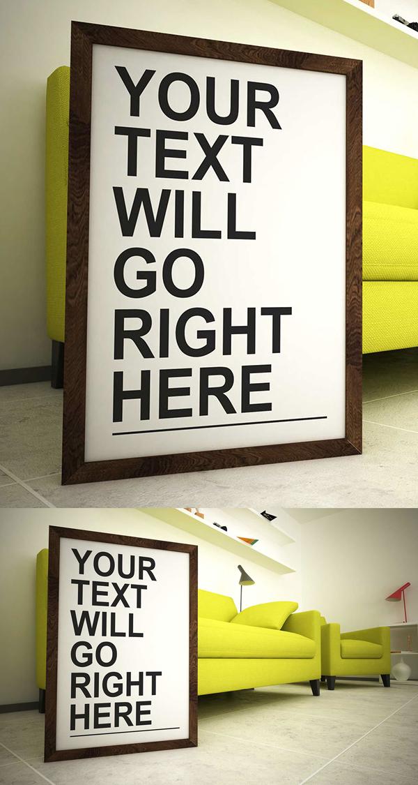 Free Modern Room Frame Mockup PSD