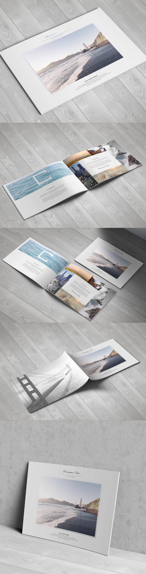 A4 Landscape Brochure Mock-Up Template