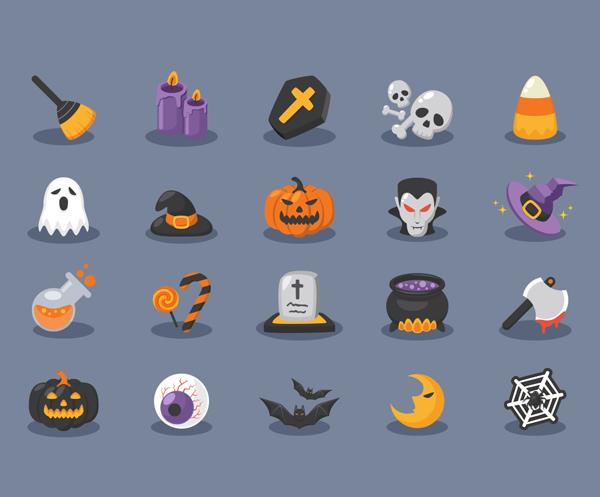 Halloween Icons (AI, EPS) - 20 Icons
