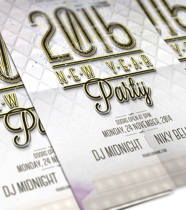 Free New Year Party Flyer PSD Template