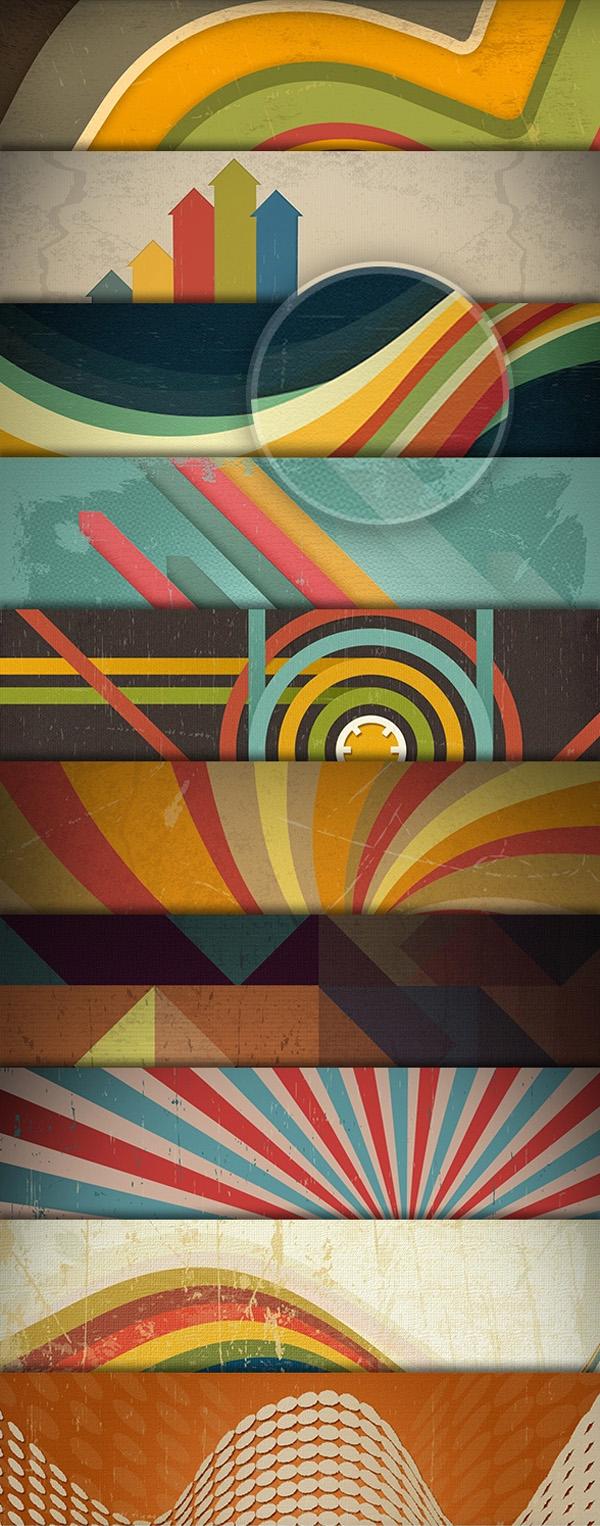 Free PSD Retro Backgrounds