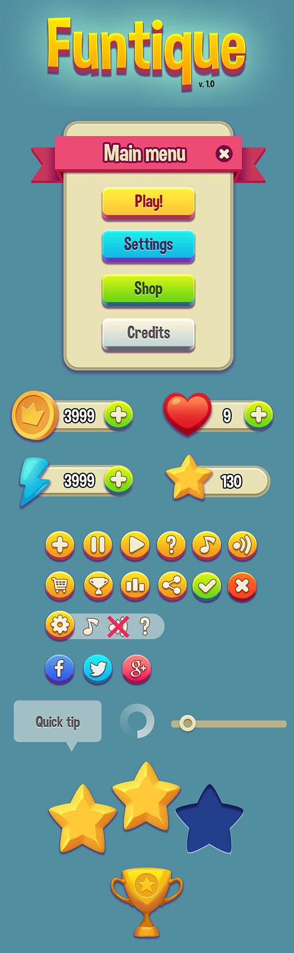 Free Game UI Kit (PSD)